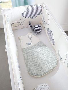 Tour de lit bébé imprimé thème envole-moi BLEU CLAIR - vertbaudet enfant