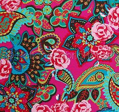 Magic Garden in vibrant fuchsia (Holland Fabric House) Tags: holland floral dutch fabric cotton etsy stenzo hollandfabrichouse