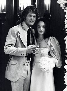DeanPaul Martin and Olivia Hussey attending 'DeanPaul Martin and wife Olivia Hussey Wedding Ceremony' on April 17 1971 in Las Vegas Nevada