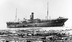 The 'Clan Munroe' aground at Slangkop Point, was wrecked in a north westerly storm of July 1905. The wreck settled on a large rock shelf where for years she was visible as a large black box to the locals. She was used to guage the height of the tide by people living in Kommetjie. Over the years she eventually broke up and sank beneath the waves. It was one of eight of the Clan Line to be wrecked on the South African coast. | Flickr - Photo Sharing!