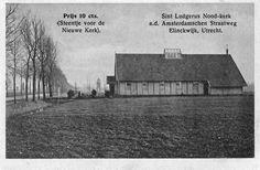 Gezicht op de Nood-kerk St.-Ludgeruskerk aan de Amsterdamsestraatweg te Zuilen.1920-1928