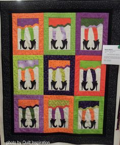 Which Witch? by Kathy Schmitz, California. Photo by Quilt Inspiration. Halloween Quilts, Halloween Projects, Witch Quilt, Witch Photos, Which Witch, Mexican Holiday, Day Of The Dead, Hallows Eve, Quilting Projects