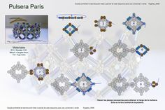 bracelet pattern | Beads Magic Pattern of awesome bracelet Paris created by Angeles 09 2 of 4