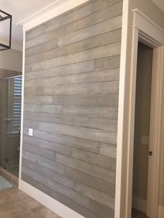 Brick House Exterior Discover Shiplap no lap boards 400 SQFT White Shiplap Wall, Shiplap Ceiling, Shiplap Bathroom Wall, Shiplap Trim, Gray Shiplap, Shiplap Boards, Ceiling Trim, Ceiling Decor, Plank Walls