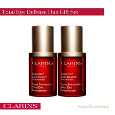 """Clarins' anti-aging eye cream reduces puffiness, dark circles and crow's feet with the power of Pueraria Lobata—the """"forever young"""" plant extract that gives eyes a luminous """"lift"""". Focus on younger-looking eyes today! Available at all Montaigne Place outlets nationwide."""