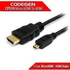 CODEGEN Telefon / Tablet / Pc için 1.5 m. MicroHDMI - HDMI Kablo #pc #alışveriş #indirim #trendylodi  #bilgisayar  #bilgisayarcevrebirimleri  #teknoloji