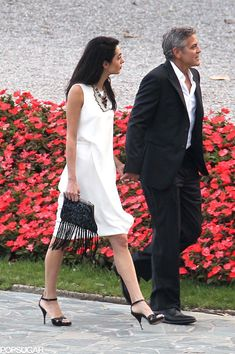 George and Amal Look Wedding Ready in Lake Como: George Clooney and Amal Alamuddin appear to be getting ready for their wedding in a big way