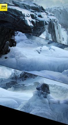 BBC Winter Olympics – Nature by Marcin Karolewski, via Behance