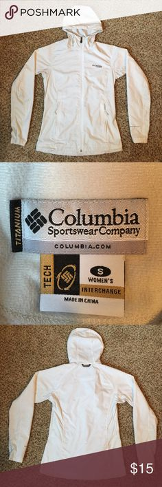 Women's Colombia jacket White Colombia titanium jacket. With Omni-Shade. Good condition. Has normal minor wear and some pilling. Columbia Jackets & Coats Utility Jackets