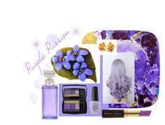 """""""Purple Passion"""" by jewlsinbloom ❤ liked on Polyvore featuring beauty, EASEL, Lancôme, OPI, Kevyn Aucoin, Calvin Klein and purplepassion"""