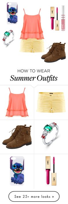 """""""Summer outfit 89"""" by estrellaojeda456 on Polyvore featuring H&M, WearAll, Boohoo and Yves Saint Laurent"""