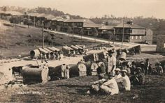 Another image of a market day in Baguio City. c1912.  - simoun (google archives) Baguio City, Philippines Travel, Vintage Pictures, Manila, Filipino, Cities, Dolores Park, Nostalgia, Scenery