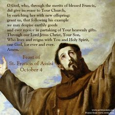 Image result for feast day of st. francis of assisi