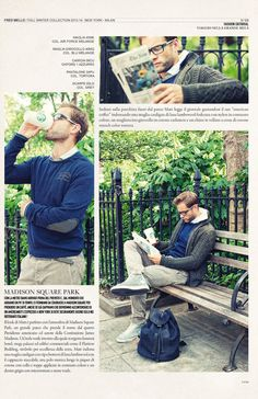 Coffee time at Madison Square Park #magazine fall winter collection#fredmello #fredmello1982 #newyork #advcampaign#accessories#fallwinter13 #accessible luxury #cool #usa #mancollection