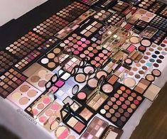 Makeup Storage, Makeup Organization, Makeup Collection Storage, Skin Makeup, Beauty Makeup, Makeup Brushes, Mac Makeup, Hair Beauty, Makeup Pallets