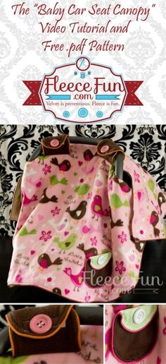 Free pattern and video tutorial on how to make a carseat canopy.