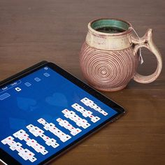 I try to keep this account pottery-only, but right now I'm excited and kind of amazed that my first completed game, Recell, has been released in the iOS App Store! It's a personal project I've been working on (and playing) for some time. If you have an iPhone or iPad, please take a look. There's a link in my profile, or you can go to the App Store and search for Recell. . #mugshotmonday #ios #app #appstore #game #solitaire #freecell #recell @recellgame
