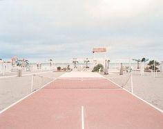 millennial pink tennis court