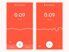 #ui #mobile Sound Recorder App