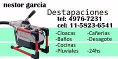 nestor garciadestapaciones con maquinastodo tipo de desagüescocinas, cloacas, inodoros, pluviales, piletas, lavaderostel: 02320-331634cel: 11-5047-5600cel: 11-5823-6541