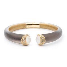 Vert D\'Eau Crystal Capped Hinged Bracelet