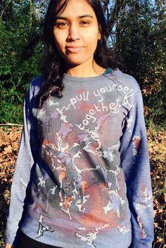 Pull Yourself Together Copper/Blue Sweater by ThePlayful on Etsy