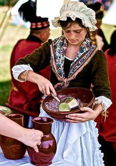 revolutionary war re-enactment ~ Miss Elise Beauchamps.. Wonderful :D