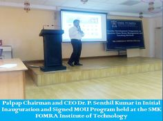 PALPAP Chairman Signed MOU @ SHREE MOTILAL KANHAIYALAL FOMRA INSTITUTE OF TECHNOLOGY