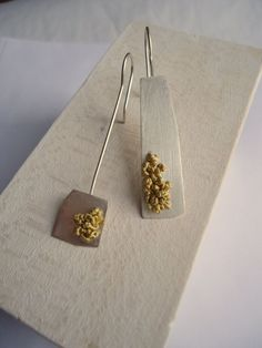 Asymmetrical Sterling Silver Earrings by LaurenMarkleyJewelry, $78.00
