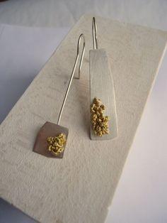 Asymmetrical Sterling Silver Earrings by LaurenMarkleyJewelry, $78.00