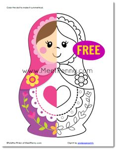 Babushka Doll Coloring Page Matryoshka Doll, Kokeshi Dolls, Doll Party, Thinking Day, Felt Christmas, Colouring Pages, Felt Crafts, Paper Dolls, Retro Vintage