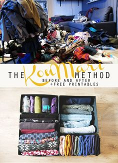 Finding out about the KonMari method clothes was like magic: finally a way to truly have a clear wardrobe that reflects me! Organisation Hacks, Home Organization, Konmari Books, Organizing Your Home, Organising, Organizing Ideas, Konmari Method, Getting Organized, Homemaking