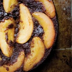 Upside-Down Pear Chocolate Cake recipe | Epicurious.com