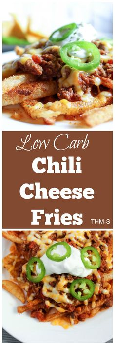Low Carb Jicama Chili Cheese Fries {THM-S}