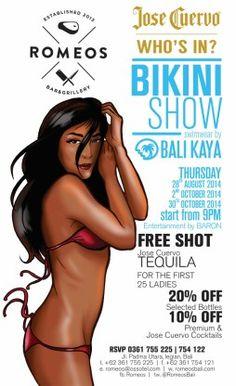 Jose Cuervo Bikini Show. Swimwear by: Bali Kaya