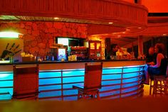 The bar at Jellyfish Restaurant in Bavaro-Punta Cana, Dominican Republic.
