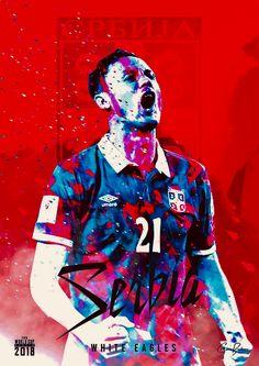 Serbia : beli orlovi (бели орлови) = White Eagles! Soccer Cup, Youth Soccer, Soccer Stars, Soccer World, World Football, World Of Sports, World Cup 2018 Teams, Fifa World Cup, Football Art