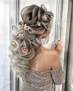 102 Beautiful Wedding Hairstyles And Bridal Hair Ideas Elegant Wedding Hair, Short Wedding Hair, Wedding Hair Pieces, Perfect Wedding, Wedding Hairstyles For Long Hair, Pretty Hairstyles, Braided Hairstyles, Wedding Hair Inspiration, Hair Highlights
