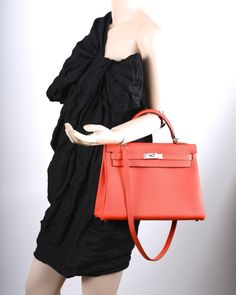 Hot Tamale! Hermes Kelly Bag 32CM Capucine Pall Hardware