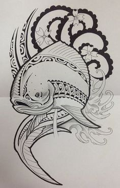 polynesien-dessin-poisson