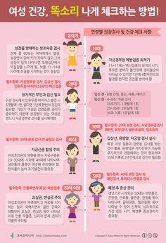 [Korean] 여성 건강, 똑소리나게 체크하는 방법! #female #infographic #health