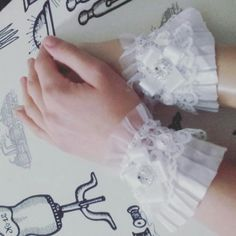 #lacecuffs #frills #lace #white