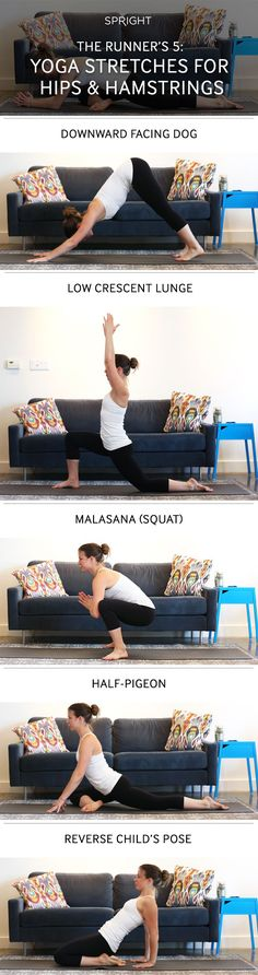 The Runner's 5: Yoga Stretches for Hips & Hamstrings