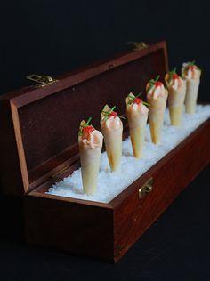 Cucuruchos de salmón