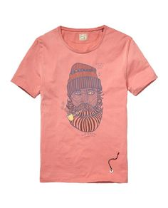 Tee With Mixed Artwork  gt  Mens Clothing  gt  T-shirts at Scotch  amp 7154e1cb39246