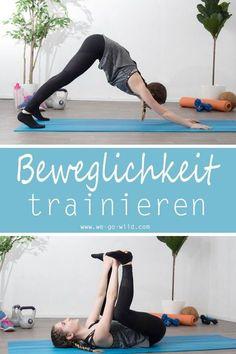Mit diesen Übungen für zuhause kannst du deine Beweglichkeit verbessern. Das Workout für zuhause ist auch ein gutes Training für Anfänger. #training #fitness #workout #yoga