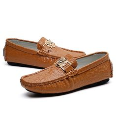 874c3bf6092 Men s Driving Shoes Leather Spring   Fall Loafers   Slip-Ons Brown   Green    Blue