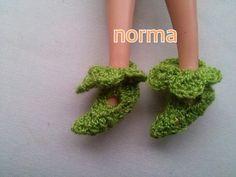 pantunflas para Barbie