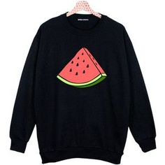 WATERMELON OVERSIZED SWEATER jumper t shirt top sweatshirt grunge retro fashion cute funny vtg swag tumblr hipster womens fruit fresh pink *