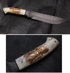 Pyraster Knives Damascus Bowie Swords, Cutlery, Knives, Weapons, Craft, Inspiration, Damascus, Hunting Knives, Camps